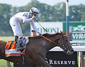 Drosselmeyer, a son of Distorted Humor, wins the 142nd Belmont Stakes, defeating Fly Down and First Dude for owner Winstar Farm, trainer Bill Mott, and jockey Mike Smith.