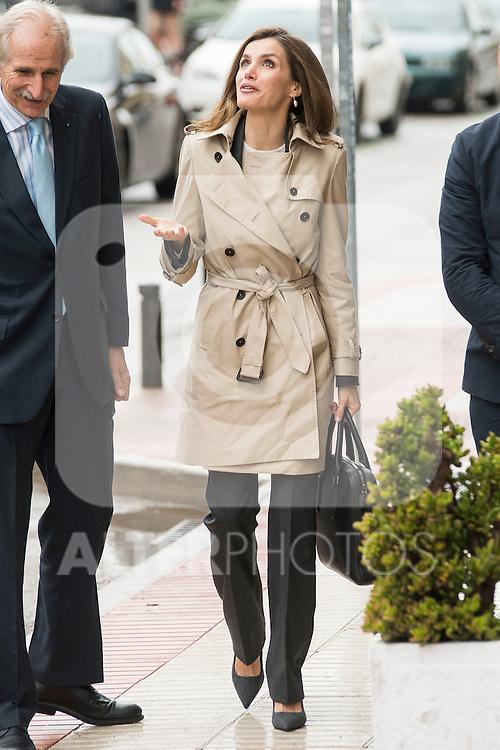 Queen Letizia of Spain arrives to the UNICEF headquarter in Madrid, Spain. December 16, 2016. (ALTERPHOTOS/BorjaB.Hojas)