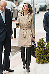 Queen Letizia of Spain arrives to the UNICEF headquarter in Madrid, Spain. December 16, 2016. (ALTERPHOTOS/BorjaB.Hojas)