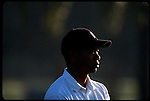 Tiger Woods in the morning light at the Genuity Open at Doral in Miami, Fl.