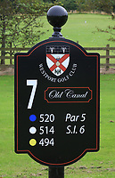 New sign at the 7th tee during the Preview of the AIG Cups & Shields Connacht Finals 2019 in Wesport Golf Club, Westport, Co. Mayo on Thursday 8th August 2019.<br /> <br /> Picture:  Thos Caffrey / www.golffile.ie<br /> <br /> All photos usage must carry mandatory copyright credit (© Golffile | Thos Caffrey)