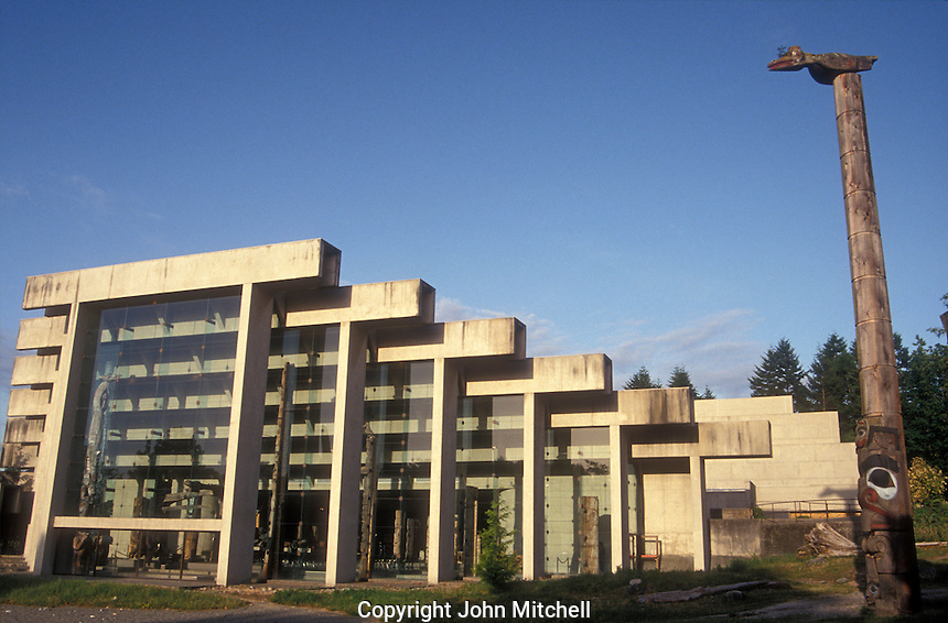 The Museum of Anthropology on the campus of the University of British Columbia, Vancouver, Canada