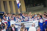 #8 TOYOTA RACING (JPN) TOYOTA TS 040 HYBRID ANTHONY DAVIDSON (GBR) SEBASTIEN BUEMI (CHE) WORLD CHAMPION 2014