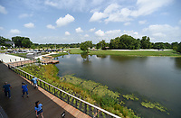 NWA Democrat-Gazette/CHARLIE KAIJO Lake Bentonville Park is shown, Friday, July 5, 2019 in Bentonville. <br /> <br /> Lake Bentonville Park is undergoing a major renovation and will be closed July 8 through spring 2020