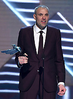 LOS ANGELES - DECEMBER 6: Greg Thomas (C) accepts the Industry Icon award at the 2018 Game Awards at the Microsoft Theater on December 6, 2018 in Los Angeles, California. (Photo by Frank Micelotta/PictureGroup)