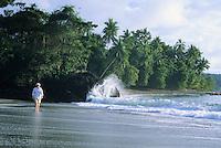 Walking along the beach, Ballena Marine National Park, Costa Rica