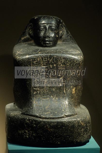 Europe/France/Midi-Pyrénées/46/Lot/Figeac:  Musée Champollion - Statuette de l'Architecte  Djehouty  XVIII ème dynastie