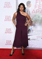 07 March 2019 - Westwood, California - Andrea Navedo. &quot;Five Feet Apart&quot; Los Angeles Premiere held at the Fox Bruin Theatre. <br /> CAP/ADM/BT<br /> &copy;BT/ADM/Capital Pictures
