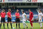 16.07.2017, Stadion an der Bremer Bruecke, Osnabrueck, GER, FSP VfL Osnabrueck vs SV Werder Bremen<br /> <br /> im Bild<br /> Henrik Bramlage (Linienrichter / Assistent referee), Arne Aarnink (Schiedsrichter / referee), Franz Bokop (Linienrichter / referee), Zlatko Junuzovic (Werder Bremen #16), Michael Zetterer (Werder Bremen #30), Johannes Eggestein (Werder Bremen #24), <br /> <br /> Foto &copy; nordphoto / Ewert