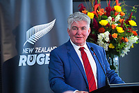 New NZ Rugby vice-president Max Spence. The 2019 New Zealand Rugby Annual General Meeting at the New Zealand Rugby House in Wellington, New Zealand on Wednesday, 17 April 2019. Photo: Dave Lintott / lintottphoto.co.nz