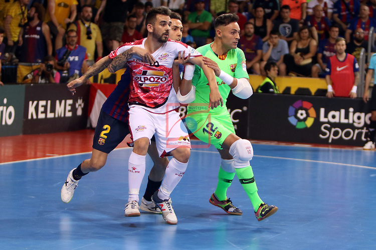 League LNFS 2018/2019.<br /> Play Off. Game: 5.<br /> FC Barcelona Lassa vs El Pozo Murcia: 3-2.<br /> Alex, Aicardo & Juanjo.