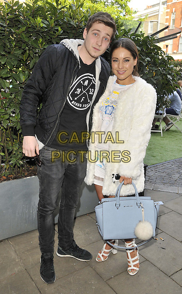 LONDON, ENGLAND - MAY 04: Sam Thompson &amp; Louise Thompson attend the Bluebird Brunch launch party, an all-day-party-come-brunch each Sunday, Bluebird bar &amp; restaurant, King's Rd., on Sunday May 04, 2014 in London, England, UK.<br /> CAP/CAN<br /> &copy;Can Nguyen/Capital Pictures