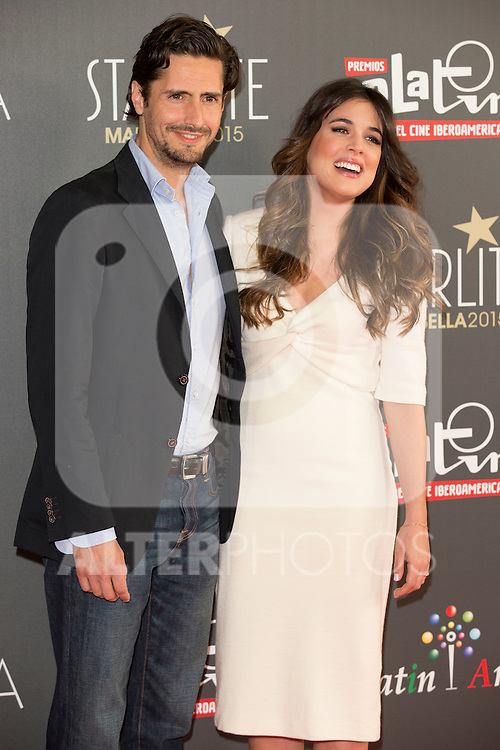 Juan Diego Botto and Adriana Ugarte attend the Platino Awards Of Iberoamerican Cinema at Hotel Ritz, Madrid,  Spain. March 09, 2015.(ALTERPHOTOS/)Carlos Dafonte)