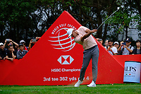 Brooks Koepka (USA) on the 3rd tee during the 1st round at the WGC HSBC Champions 2018, Sheshan Golf Club, Shanghai, China. 25/10/2018.<br /> Picture Fran Caffrey / Golffile.ie<br /> <br /> All photo usage must carry mandatory copyright credit (&copy; Golffile | Fran Caffrey)