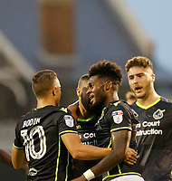 Bristol Rovers' Ellis Harrison celebrates his goal during the Carabao Cup match between Fulham and Bristol Rovers at Craven Cottage, London, England on 22 August 2017. Photo by Carlton Myrie.