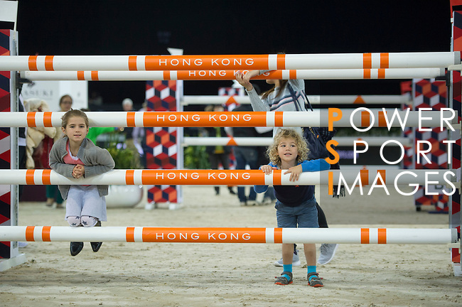 Walk the course before the AsiaWorld-Expo Trophy, part of the Longines Masters of Hong Kong on 11 February 2017 at the Asia World Expo in Hong Kong, China. Photo by Juan Serrano / Power Sport Images