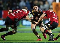 1st August 2020, Hamilton, New Zealand;  Chiefs centre Anton Lienert-Brown. Chiefs versus Crusaders, Super Rugby Aotearoa. FMG Stadium Waikato, Hamilton, New Zealand.