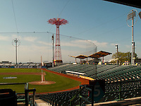 Brooklyn, New York - 9 June 2009 - Keyspan Stadium in Coney Island was built on the site of the old Steeplechase Park.