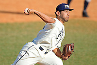 28 February 2010:  FIU's Jorge Marban (33) pitches in the tenth inning as the FIU Golden Panthers defeated the Oral Roberts Golden Eagles, 7-6 (10 innings), at University Park Stadium in Miami, Florida.