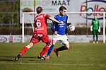 2018-03-11 / Voetbal / Seizoen 2017-2018 / VC Herentals - KFC Nijlen / Gianni Convalle met Gianni Mari&euml;n (r. Nijlen)<br /> <br /> ,Foto: Mpics.be