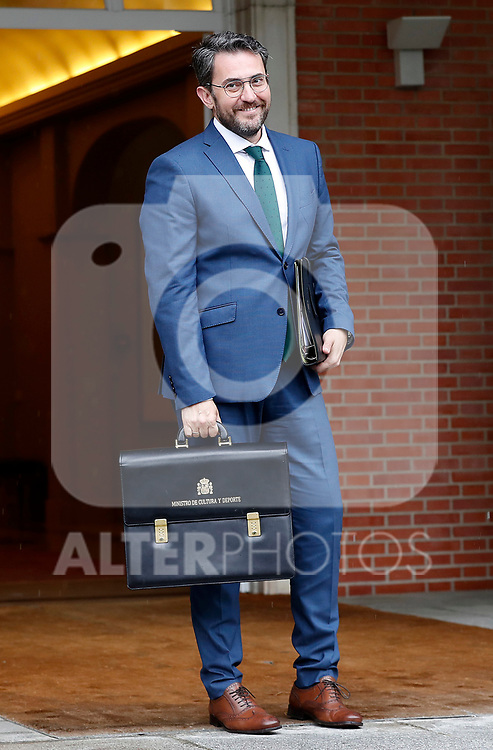 Maxim Huerta, Minister of Culture and Sport, arrives at the first Council of Ministers of the new Government of Spain, chaired by Pedro Sanchez. June 8,2018. (ALTERPHOTOS/Acero)