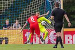 20.07.2019, Heinz Detmar Stadion, Lohne, GER, Interwetten Cup, VfL Osnabrueck vs 1. FC Koeln<br /> <br /> im Bild / picture shows <br /> <br /> Brady Scott (Koeln #31)<br /> Marco Höger / Hoeger (Koeln #06)<br /> Foto © nordphoto / Kokenge