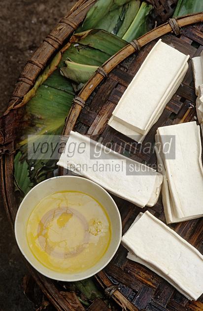 Asie/Vietnam/Hanoi: détail de petits fromages de soja