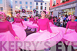 The Rose of Tralee parade moves through the town centre on Saturday night.
