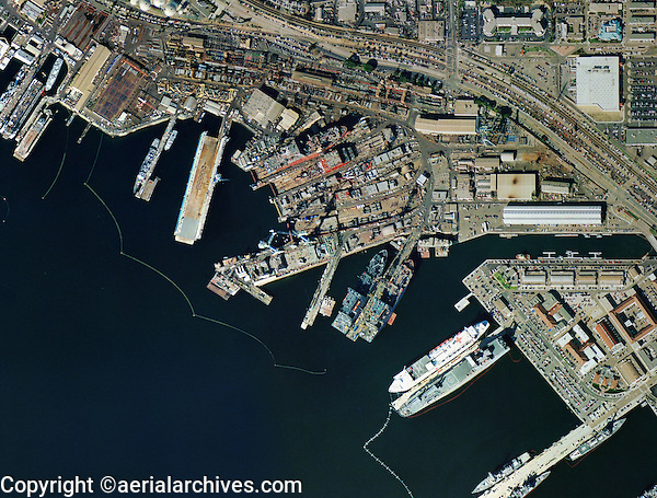 aerial map view General Dynamics Port of San Diego California