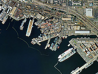 aerial map view General Dynamics Port of San Diego California