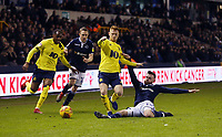 Blackburn Rovers' Harrison Reed and Millwall's Ryan Tunnicliffe<br /> <br /> Photographer Rob Newell/CameraSport<br /> <br /> The EFL Sky Bet Championship - Millwall v Blackburn Rovers - Saturday 12th January 2019 - The Den - London<br /> <br /> World Copyright &copy; 2019 CameraSport. All rights reserved. 43 Linden Ave. Countesthorpe. Leicester. England. LE8 5PG - Tel: +44 (0) 116 277 4147 - admin@camerasport.com - www.camerasport.com