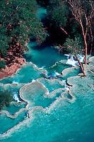 Iridescent blue pond at bottom of Havasupi Canyon, Arizona
