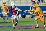 Costa Mesa, CA 03/08/14 - Charles Gilbreath (LMU #5) and \sb22\ in action during the MCLA Loyola Marymount vs UC Santa Barbara men's lacrosse game as part of the 2014 Pacific Shootout.  UCSB defeated LMU 12-7 at Le Bard Stadium.