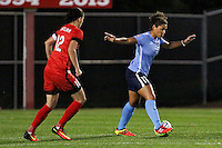 Piscataway, NJ - Sunday Sept. 25, 2016: Christine Sinclair, Raquel Rodriguez during a regular season National Women's Soccer League (NWSL) match between Sky Blue FC and the Portland Thorns FC at Yurcak Field.