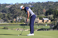 Rafa Cabrera-Bello (ESP) putts on the 6th green at Pebble Beach course during Friday's Round 2 of the 2018 AT&amp;T Pebble Beach Pro-Am, held over 3 courses Pebble Beach, Spyglass Hill and Monterey, California, USA. 9th February 2018.<br /> Picture: Eoin Clarke | Golffile<br /> <br /> <br /> All photos usage must carry mandatory copyright credit (&copy; Golffile | Eoin Clarke)