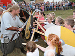 Children have fun at the Viking festival in Annagassan. Photo: www.pressphotos.ie