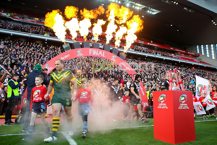 Picture by Alex Whitehead/SWpix.com - 20/11/2016 - Rugby League - Ladbrokes Four Nations Final - Australia v New Zealand - Anfield, Liverpool, England - Australia's Matthew Scott walks onto the pitch.