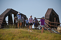Stephanie Meadow (NIR) makes her way across the bridge near the tee on 2 during the round 3 of the Volunteers of America Texas Classic, the Old American Golf Club, The Colony, Texas, USA. 10/5/2019.<br /> Picture: Golffile   Ken Murray<br /> <br /> <br /> All photo usage must carry mandatory copyright credit (© Golffile   Ken Murray)