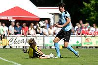 ANNEN - Voetbal, Annen - FC Groningen, voorbereiding seizoen 2017-2018, 09-07-2017, FC Groningen speler Tim Waterink  strand op Annen keeper