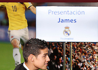 22/07/2014<br /> ESTADIO SANTIAGO BERNABEU<br /> Presentacion James Rodriguez  por el Real Madrid C.F