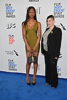 Sara Jordeno &amp; Star of Kiki at the 2017 Film Independent Spirit Awards on the beach in Santa Monica, CA, USA 25 February  2017<br /> Picture: Paul Smith/Featureflash/SilverHub 0208 004 5359 sales@silverhubmedia.com