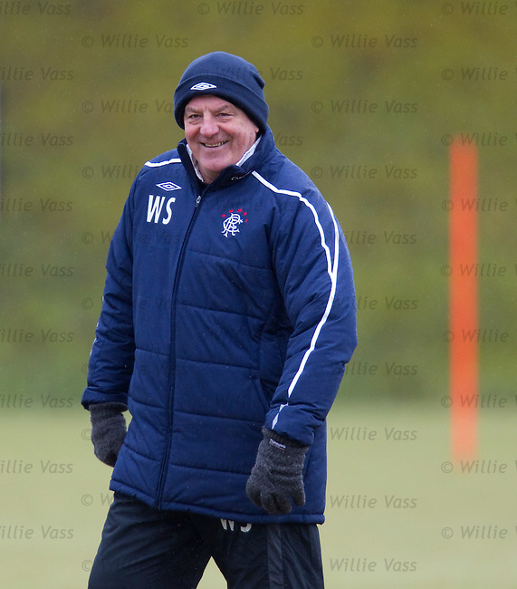 All smiles from Walter Smith on the training ground today