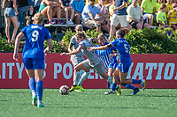 Boston, MA - Saturday June 24, 2017: McCall Zerboni and Amanda DaCosta during a regular season National Women's Soccer League (NWSL) match between the Boston Breakers and the North Carolina Courage at Jordan Field.