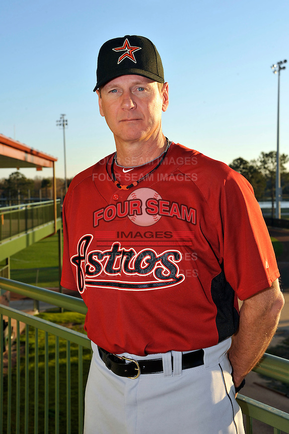 Feb 25, 2010; Kissimmee, FL, USA; The Houston Astros coach Brad Arnsberg (31) during photoday at Osceola County Stadium. Mandatory Credit: Tomasso De Rosa/Four Seam Images