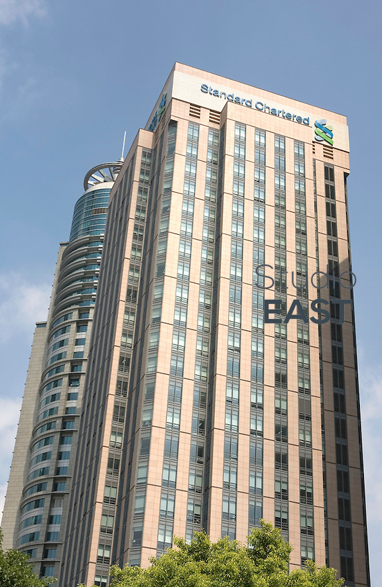 Standard Chartered Bank headquarters stand in Shanghai, China, on September 24, 2008. Photo by Servais Mont/Pictobank
