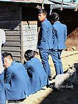School uniform on a weekday, Ukhrul, Manipur