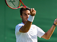 England, London, Juli 04, 2015, Tennis, Wimbledon, Jean-Julian Rojer (NED)<br /> Photo: Tennisimages/Henk Koster