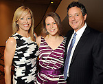 Laura Sweeney, Noel Sakowitz and Michael Sweeney at the 2010 Best Dressed Luncheon and Neiman Marcus Fashion show at the Westin Galleria Hotel Wednesday March 31,2010. (Dave Rossman Photo)