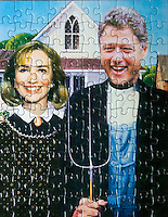 Bill & Hillary Clinton Jigsaw Puzzle in Hope, Arkansas