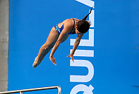 BARRANQUILLA - COLOMBIA, 22-07-2018: Competidora Alexandra Mancia de el Salvador , modalidad 10m plataforma.Juegos Centroamericanos y del Caribe Barranquilla 2018. /Competitor Alexandra Mancia from El Salvador, 10m platform platform of the Central American and Caribbean Sports Games Barranquilla 2018. Photo: VizzorImage /  Contribuidor